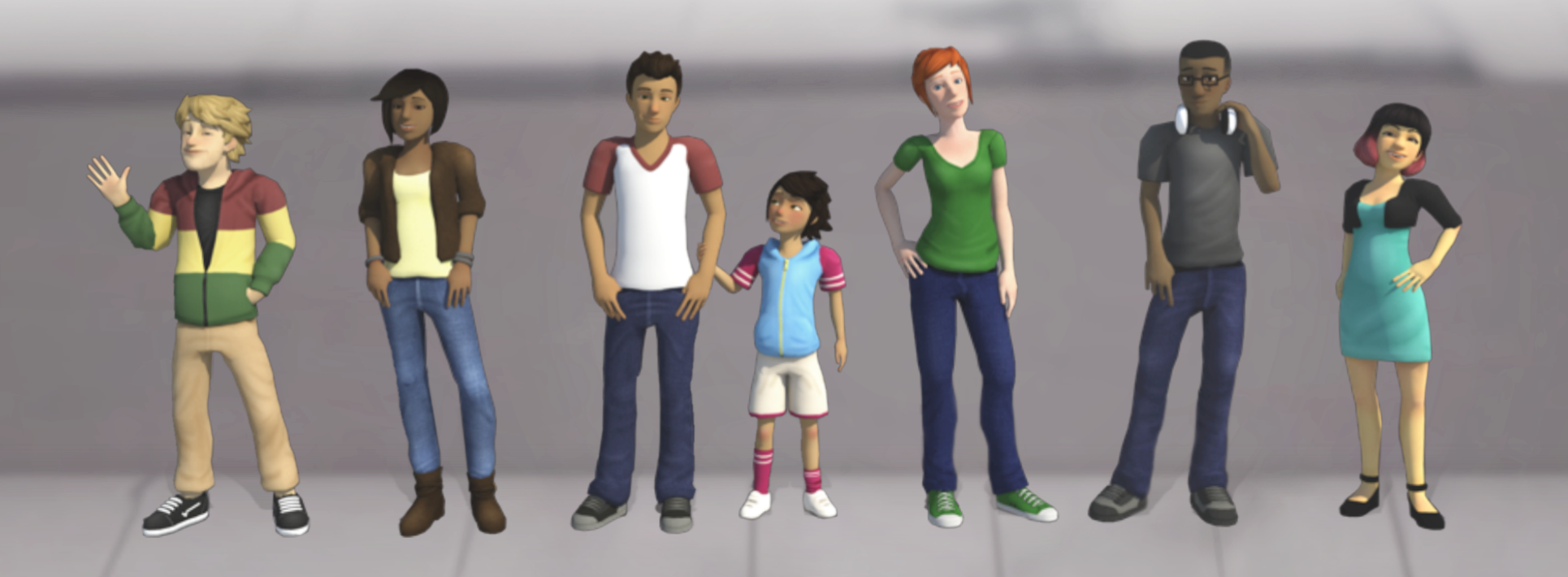 Rich cast of believable virtual characters